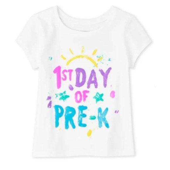 NWT 'First Day Of Pre-K' Cotton Tee Size 4T